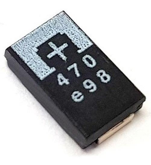 4 Pçs Capacitor Tântalo 470uf 2,5v 470 Reparo Ps3