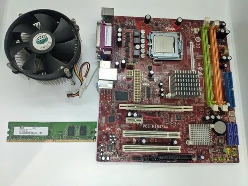Placa Mãe Positivo Mi945aa N1996 C/cooler Box, Cpu Vai C 512