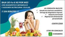 Consulta Nutricional Con Diagnostico Síndrome Metabólico