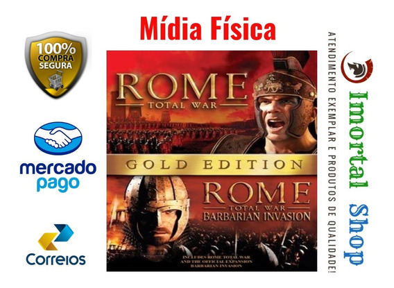 Rome Total War Gold Edition Mídia Física Pc