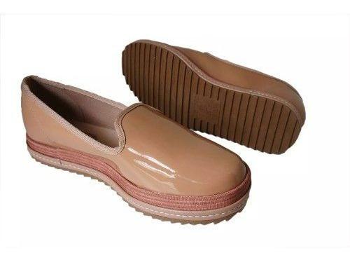 Sapato Feminino Beira Rio Turim Nude Verniz Premium 4196.200