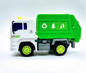 Caminhão De Lixo Brinquedo A Fricção Com Luzes E Sons