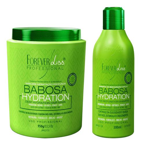 Máscara E Shampoo De Babosa Forever Liss Controla Queda 950g