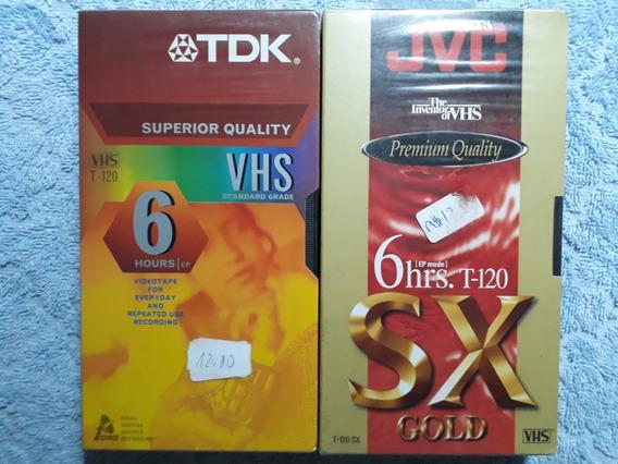 Fitas Vhs Lacradas Tdk + Jvc 6 Hs - Em Ep Mode