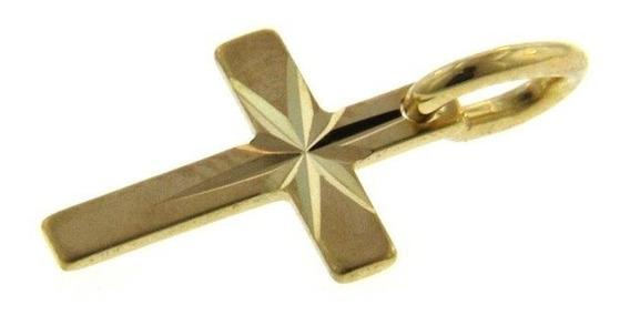 Cruz Estrella En Oro De 14k (25379)