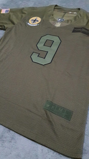 Camisa Drew Brees #9 Salute To Service. Saints Nfl Importada