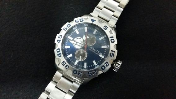 Relógio Náutica 51mm De Caixa Gigante Coroa Rosca Lindo Vem
