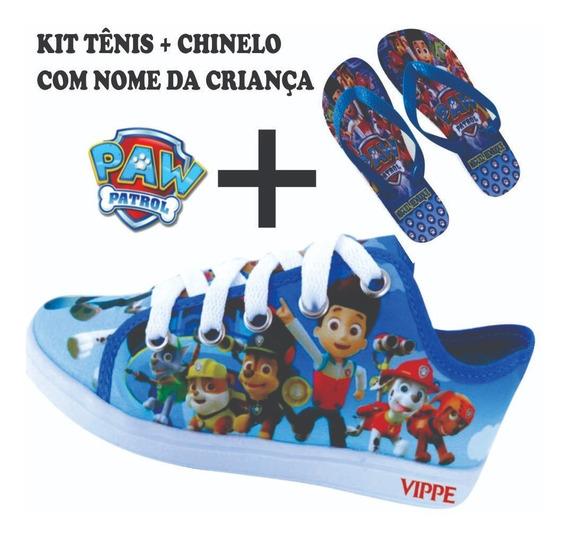 Kit 2 Pares De Tênis + 2 Chinelo Patrulha Canina L20 Barato