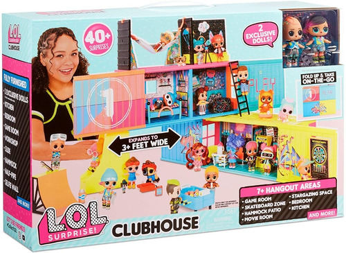 Imagen 1 de 4 de L.o.l. Surprise! Clubhouse Playset + 40 Sorpresas!