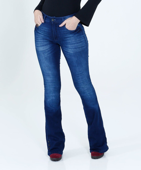 Calça Feminina Flare Jeans Stretch Biotipo - Original - Nova