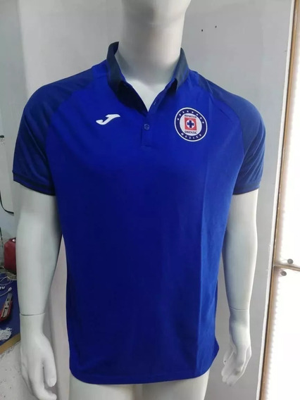 Playera Cruz Azul Polo 2019-2020 Original Azul