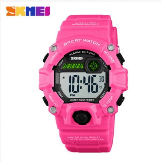 Reloj Quarzo Skmei 1484 Mujer Rosa Sumergible