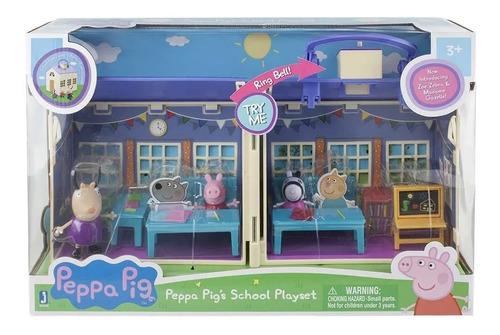 Peppa Pig Playset Escuela Colegio De Lujo Sonidos Y Maleta