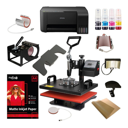 Kit Maquina Sublimadora 9 En 1 38 X 38 + Impresora Epson A4