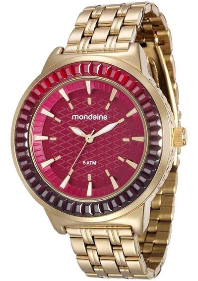 Relógio Feminino Mondaine 76624lpmvde2 Fundo Vermelho