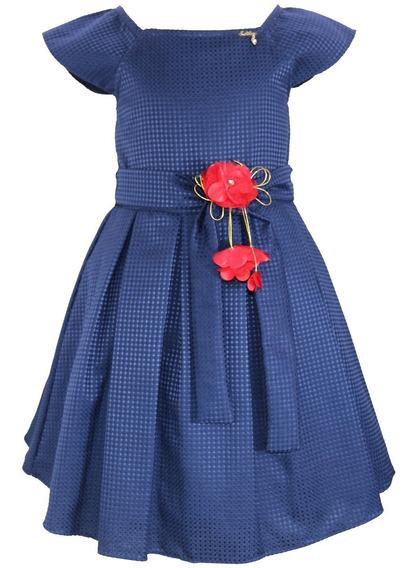 Vestido Festa Infantil Tam: 1 Ao 4 Liso Várias Cores Katitus