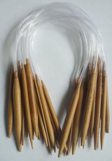 Agujas Circulares De Tricot De Bambú De 40 Cm.
