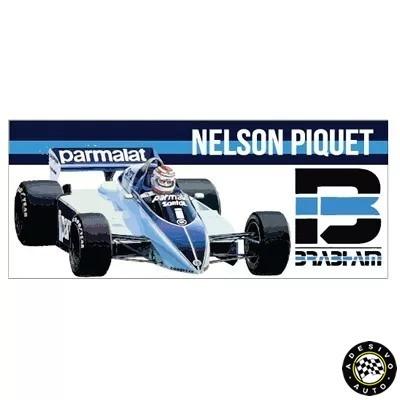 Adesivo Nelson Piquet Brabham Bt50 F1 Formula 1 Carros