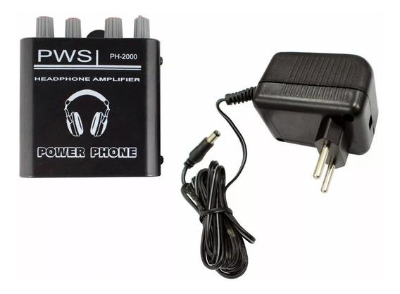 Amplificador Para Fone De Ouvido Com Fonte Pws Ph 2000