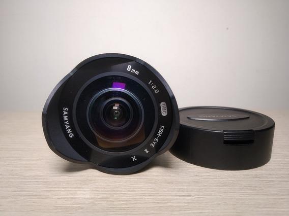 Lente Samyang 8mm Fisheye Para Fujifilm