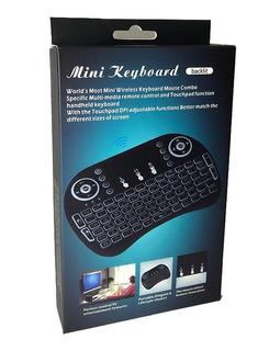 Mini Teclado Inalámbrico Smart Tv Español Con Iluminación Ñ