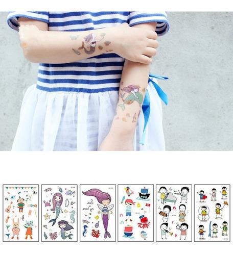 Tatuaje De Dibujos Animados De La Sirena De La Fantasia Del Mercado Libre