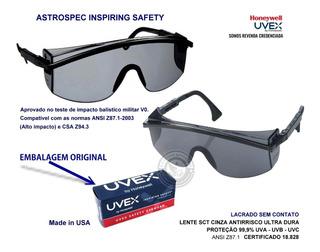 Óculos De Proteção Militar Epi Astrospec Ultradur Uvex Cinza