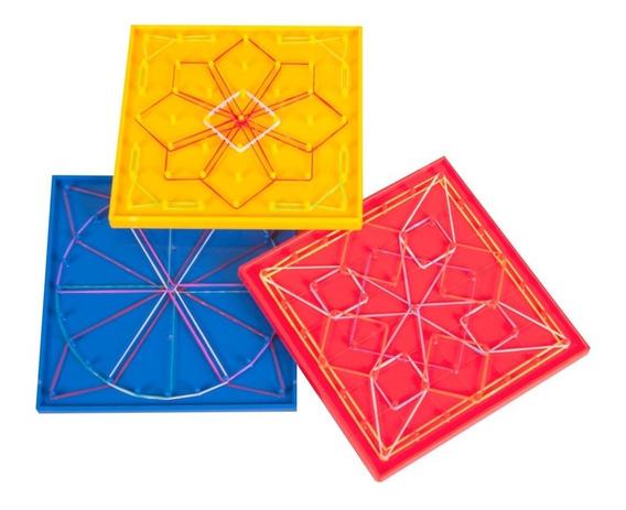 Juguete Geoplano De Plastico 6 Piezas