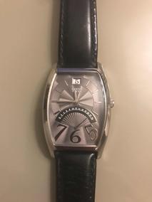 Relógio Guess Novo, Pulseira De Couro Genuíno !!