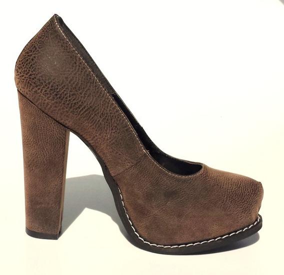 Zapato Mujer Stiletto Vestir Plataforma Moda Taco Palo Tmg6