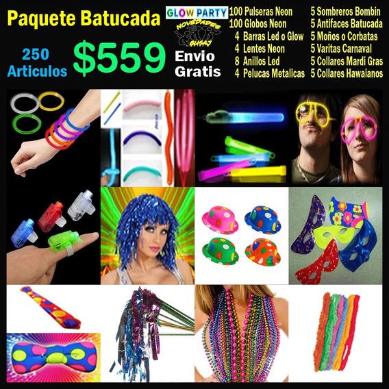Paquete Batucada $559 Xv Años Fiesta Led Neon Envio Gratis