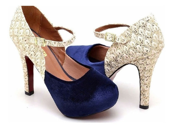 Sapato Feminina Plataforma Salto Alto Luxo Moda Qualidade