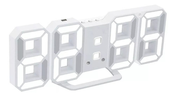 Reloj Digital Led Numero Grande Escritorio, Pared, Mesa