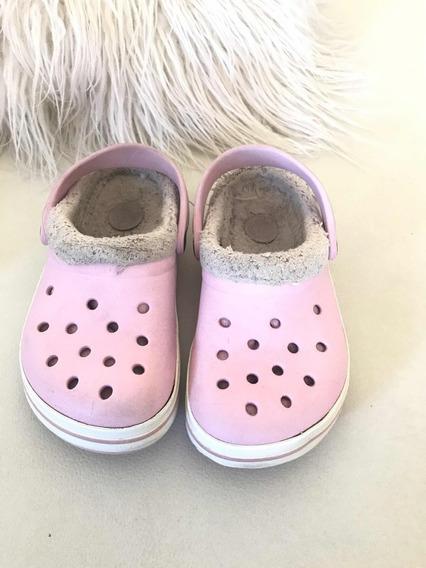 Crocs Con Corderito De Niña
