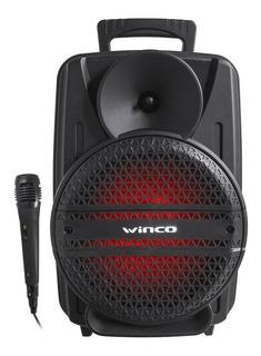 Parlante Winco W238 8p Portatil Usb Mp3 Karaoke C/luces