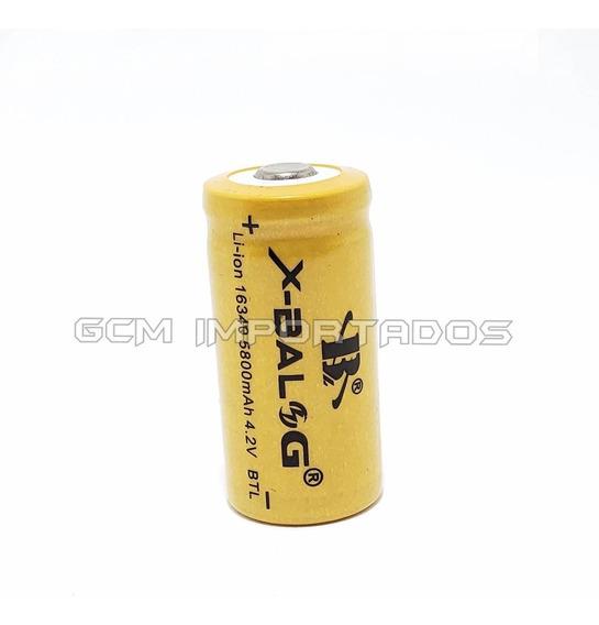Kit 4x Bateria Pilha Gold Recarregável 16340 4,2v Cr123a