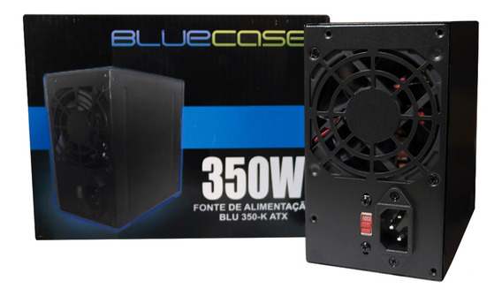 Fonte Atx 350w Reais Bluecase Bivolt 350-e Real