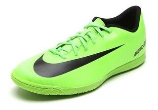 Chuteira Tênis Nike Futsal Mercurialx Vortex Iii Ic 9201 Verde/preto