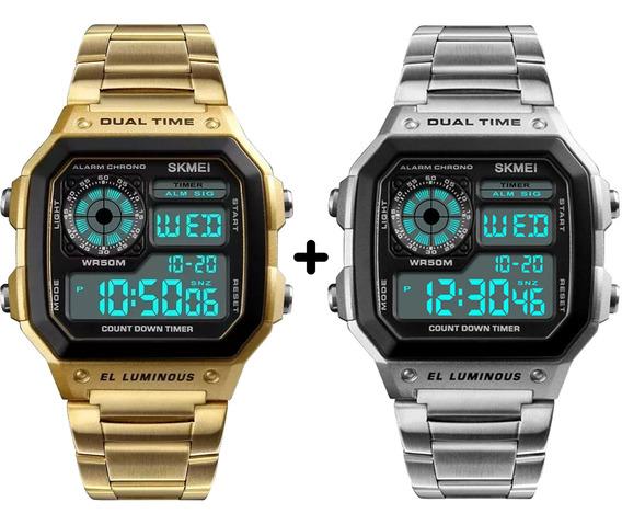 Relógio Masculino Skmei Digital Militar Kit 2 Un Promoção