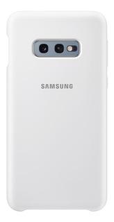 Capa Protetora Samsung Silicone Para Galaxy S10e - Branca