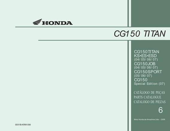 Despiece Honda Cg150 Titan Ks Es Esd Sport