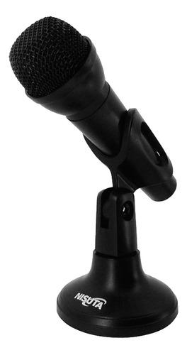 Imagen 1 de 5 de Micrófono Nisuta Nsmic180 Omnidireccional Para Pc Jack 3.5