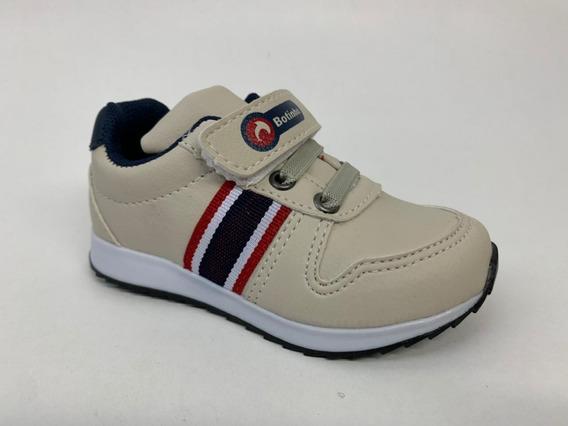 Tênis Infantil Masculino Casual Velcro Antiderrapante 766