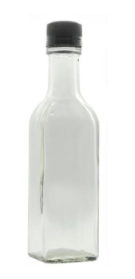 Botella De Vidrio 250 Ml Bebidas Tequila Jugo (50 Piezas)