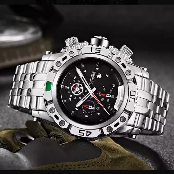 Relógio Temeite Luxury Ver Dia Quartz