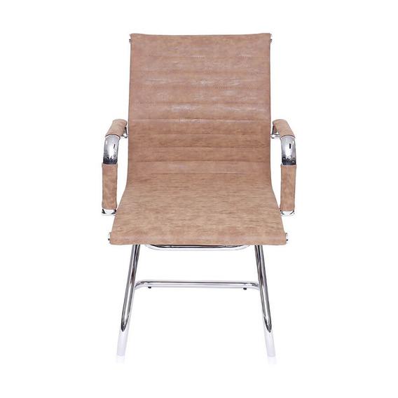 Cadeira De Escritório Baixa Fixa - Castanho - Tommy Design
