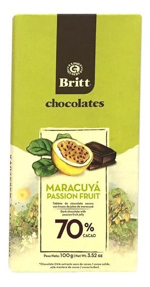 Tableta Chocolate Britt 70% Maracuya - kg a $300