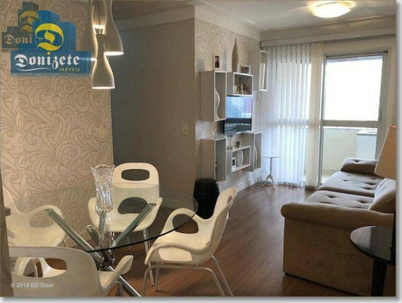 Apartamento Com 3 Dormitórios À Venda, 77 M² Por R$ 499.000,01 - Casa Branca - Santo André/sp - Ap8139