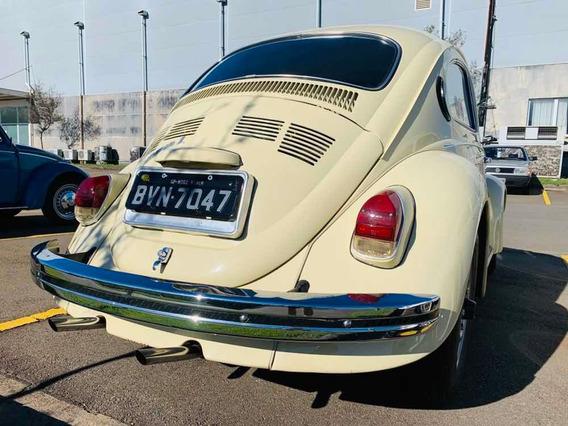 Fusca 1300 L Placa Preta Original Volkswagen Coleção