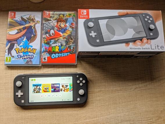 Nintendo Switch Lite Completo + Jogos
